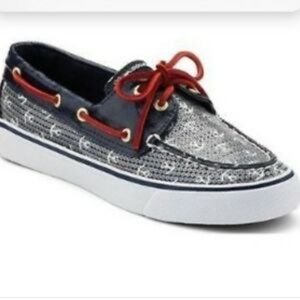 SPERRY TOPSIDER BAHAMA BLUE ANCHORS BOAT SHOES